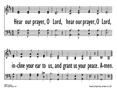 HEAR OUR PRAYER, O LORD-ppt