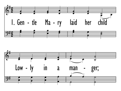 GENTLE MARY LAID HER CHILD-ppt