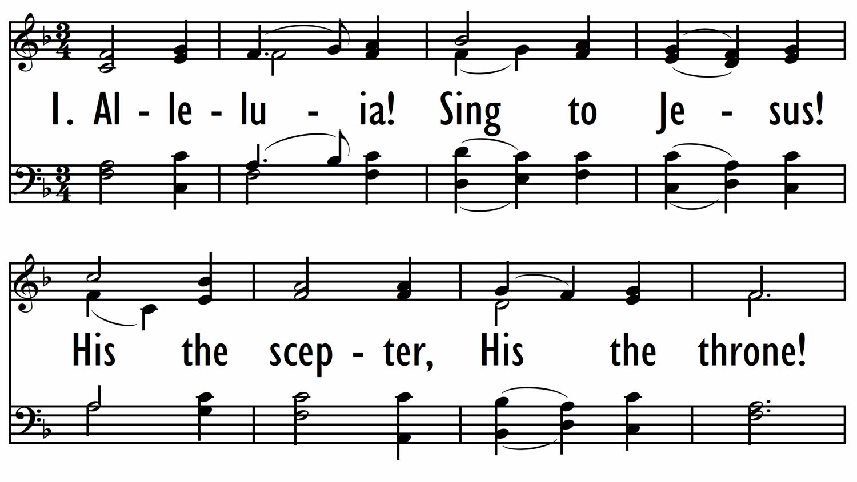 ALLELUIA! SING TO JESUS!-ppt