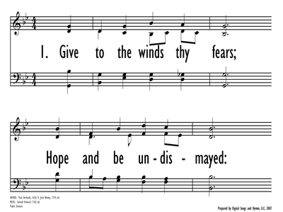 GIVE TO THE WINDS THY FEARS-ppt