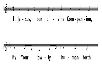 JESUS, OUR DIVINE COMPANION - Lead Line-ppt