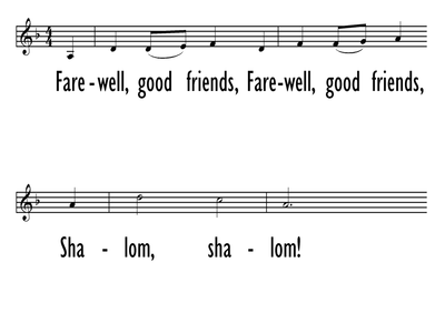FAREWELL, GOOD FRIENDS - Lead Line-ppt