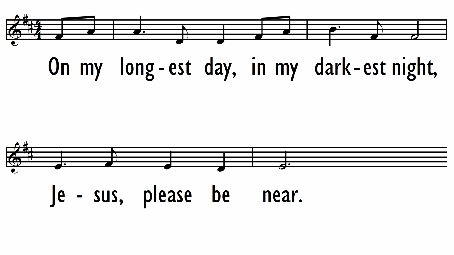 JESUS, YOU ARE HERE (A Hymn for Sheltering in Place) - lead line-ppt