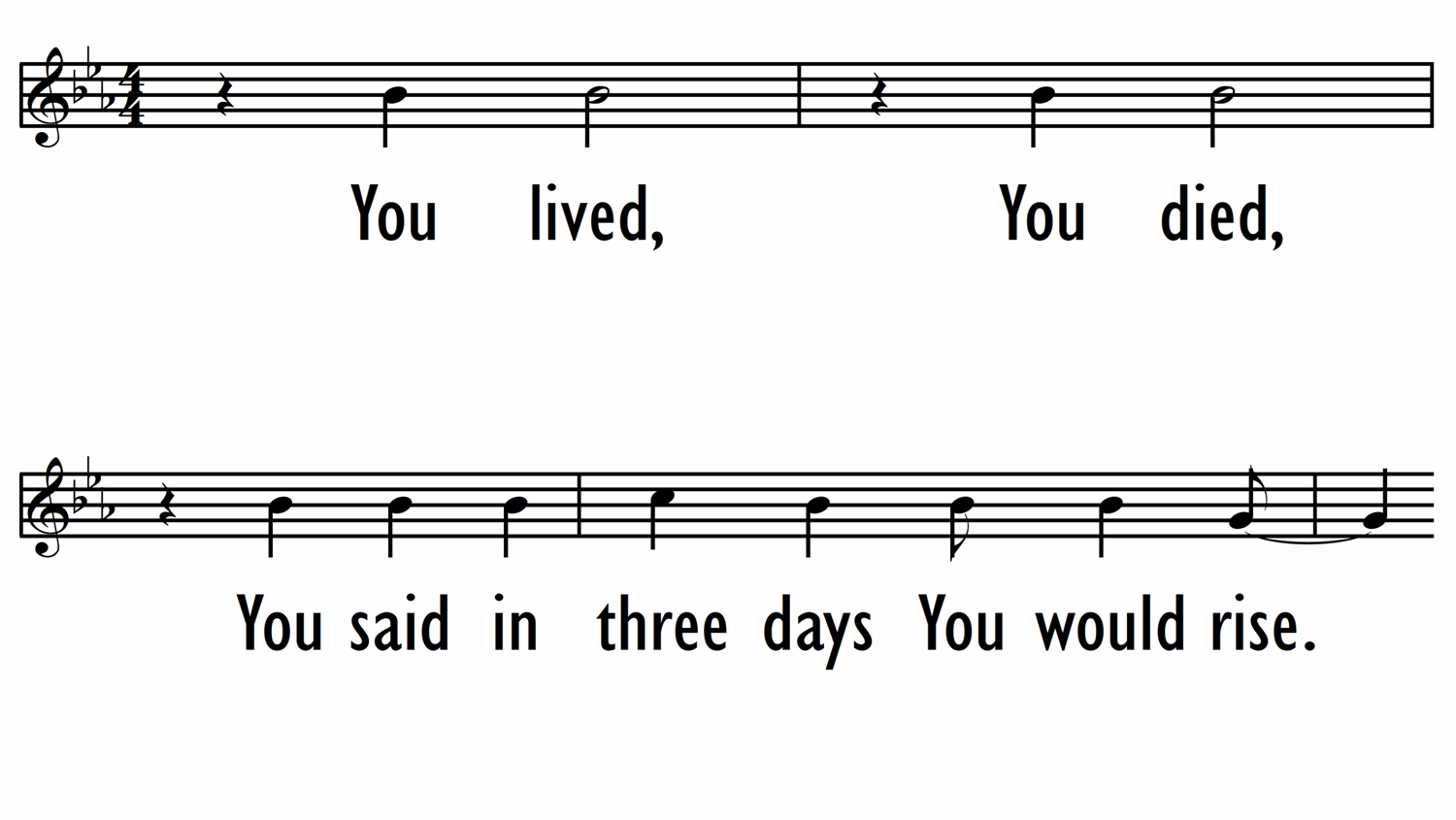 ALL THE EARTH WILL SING YOUR PRAISES - Lead Line-ppt