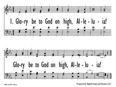 GLORY BE TO GOD ON HIGH-ppt