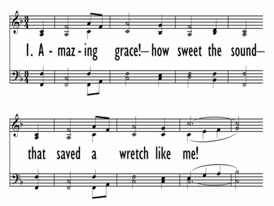 AMAZING GRACE, HOW SWEET THE SOUND-ppt