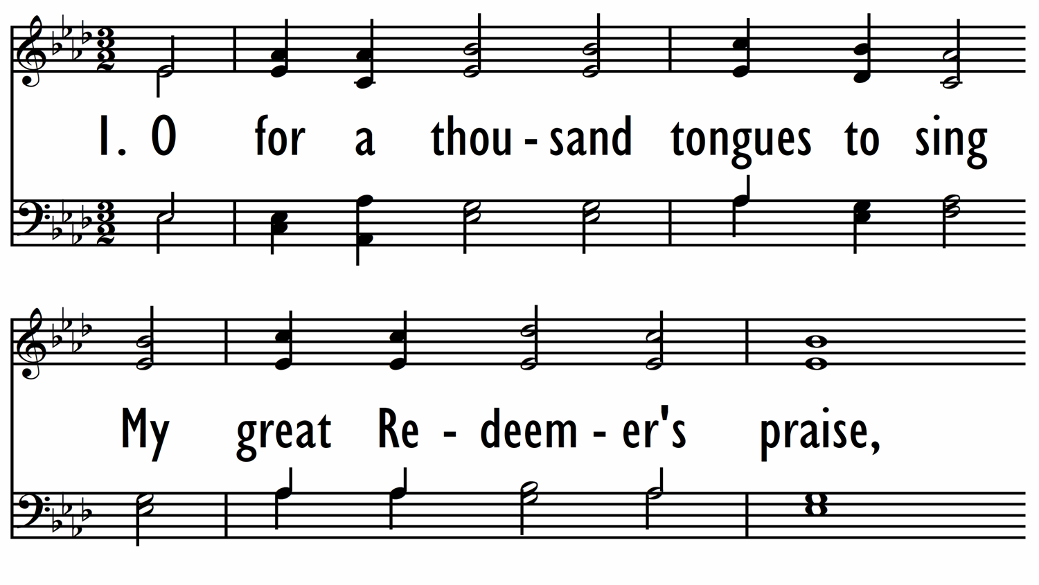 O FOR A THOUSAND TONGUES-ppt