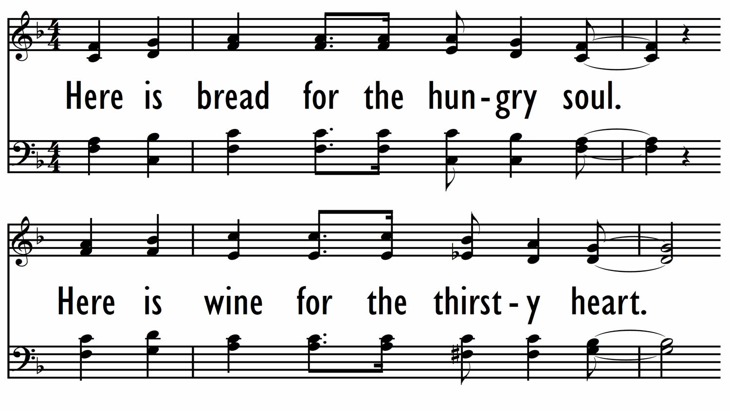 HERE IS BREAD FOR THE HUNGRY SOUL-ppt