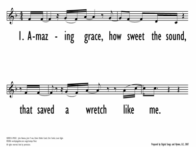 AMAZING GRACE (MY CHAINS ARE GONE)-ppt