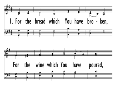 FOR THE BREAD WHICH YOU HAVE BROKEN-ppt