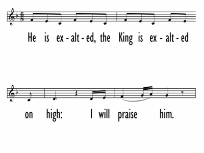 HE IS EXALTED-ppt