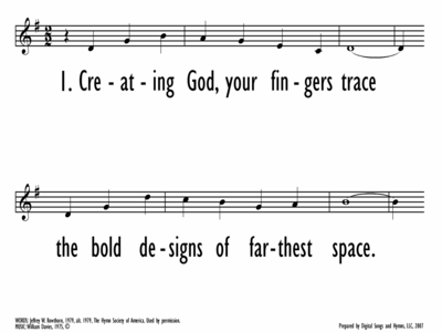 CREATING GOD, YOUR FINGERS TRACE - Lead Line-ppt