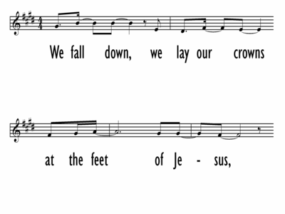 WE FALL DOWN - Lead Line-ppt