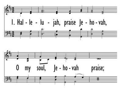 HALLELUJAH, PRAISE JEHOVAH, O MY SOUL-ppt
