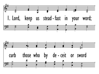 LORD, KEEP US STEADFAST IN YOUR WORD-ppt