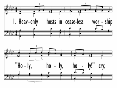 HEAVENLY HOSTS IN CEASELESS WORSHIP-ppt