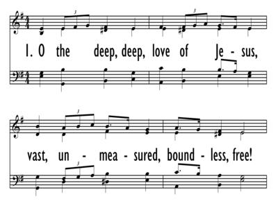O THE DEEP, DEEP LOVE OF JESUS-ppt