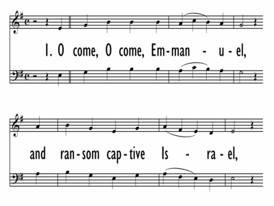 O COME, O COME EMMANUEL - HymnCharts Lead Sheet-ppt