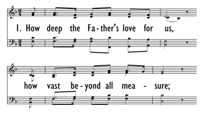 HOW DEEP THE FATHER'S LOVE FOR US-ppt