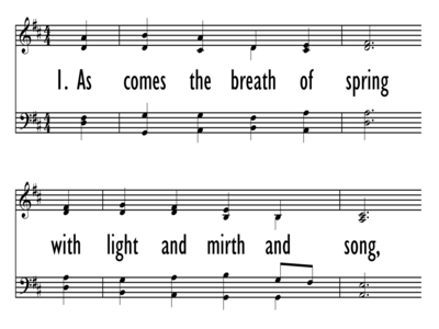 AS COMES THE BREATH OF SPRING-ppt