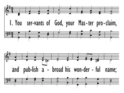 YOU SERVANTS OF GOD, YOUR MASTER PROCLAIM-ppt