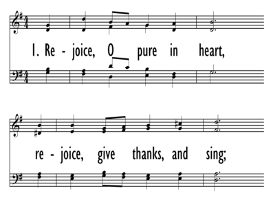 REJOICE, O PURE IN HEART-ppt