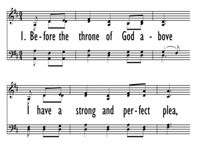 BEFORE THE THRONE OF GOD ABOVE-ppt