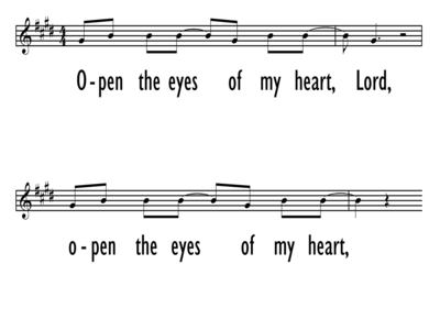 OPEN THE EYES OF MY HEART - Lead LIne-ppt