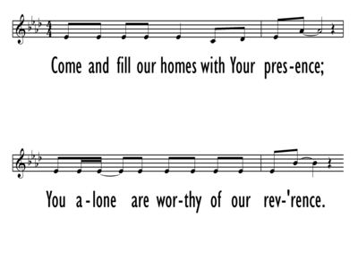 THE FAMILY PRAYER SONG - Lead Line - Chorus Only-ppt