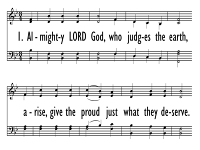 ALMIGHTY LORD GOD, WHO JUDGES THE EARTH-ppt