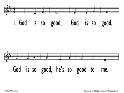 GOD IS SO GOOD - Lead Line-ppt