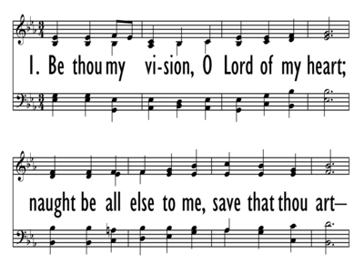 BE THOU MY VISION - 4 part - Large Font