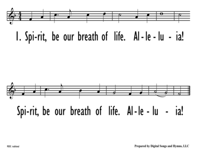 SPIRIT, BE OUR BREATH OF LIFE - Lead Line-ppt