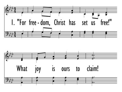 FOR FREEDOM CHRIST HAS SET US FREE-ppt