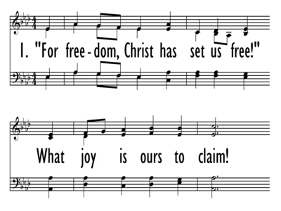 FOR FREEDOM CHRIST HAS SET US FREE - Large Font-ppt