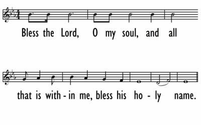 BLESS THE LORD, O MY SOUL - Lead Line-ppt