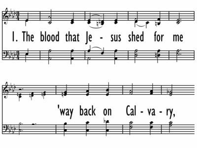 THE BLOOD THAT JESUS SHEDS FOR ME-ppt