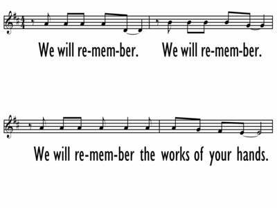 WE WILL REMEMBER - Lead Line-ppt