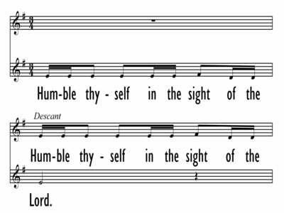 HUMBLE THYSELF IN THE SIGHT OF THE LORD-ppt