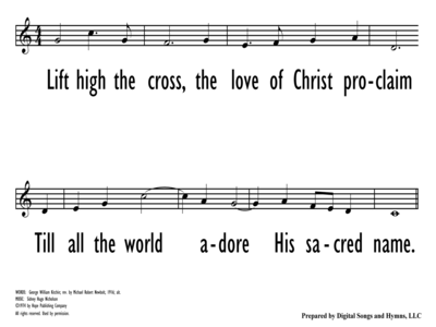 LIFT HIGH THE CROSS - Lead Line - without descant-ppt