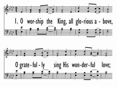 O WORSHIP THE KING - Tomlin-ppt