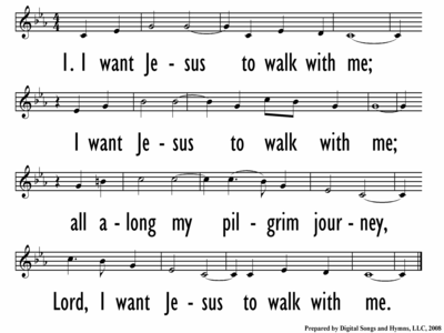 I WANT JESUS TO WALK WITH ME - Lead Line - 4 lines/slide-ppt