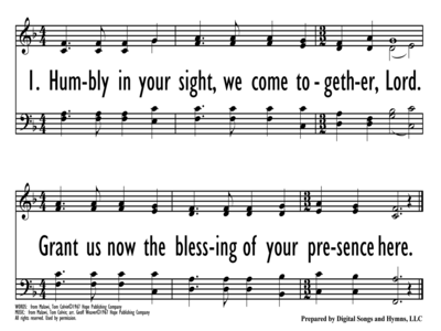 HUMBLY IN YOUR SIGHT-ppt