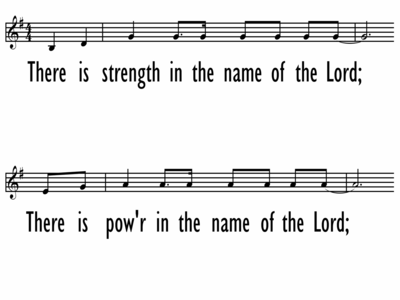 IN THE NAME OF THE LORD - Lead Line-ppt