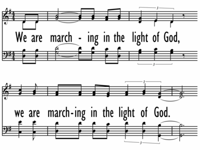 WE ARE MARCHING IN THE LIGHT OF GOD / SIYAHAMBA-ppt