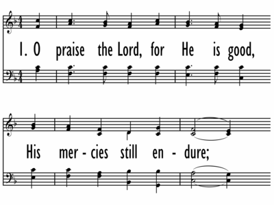 O PRAISE THE LORD, FOR HE IS GOOD-ppt