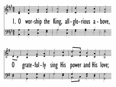 O WORSHIP THE KING-ppt