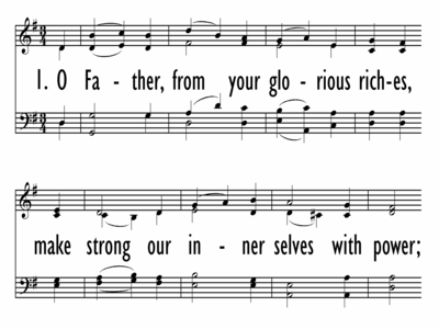 O FATHER, FROM YOUR GLORIOUS RICHES - Lead Line-ppt