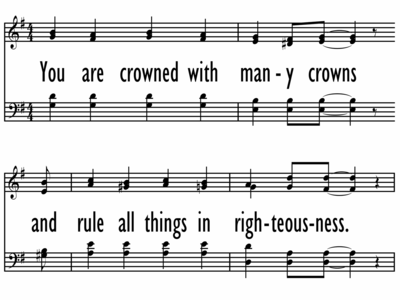 YOU ARE CROWNED WITH MANY CROWNS-ppt