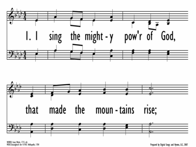 I SING THE MIGHTY POWER OF GOD-ppt